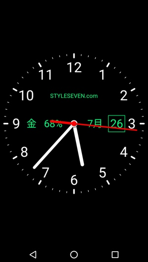 アナログ時計アプリ2