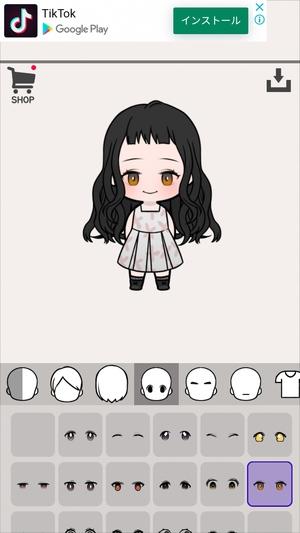 女の子作成アプリ6